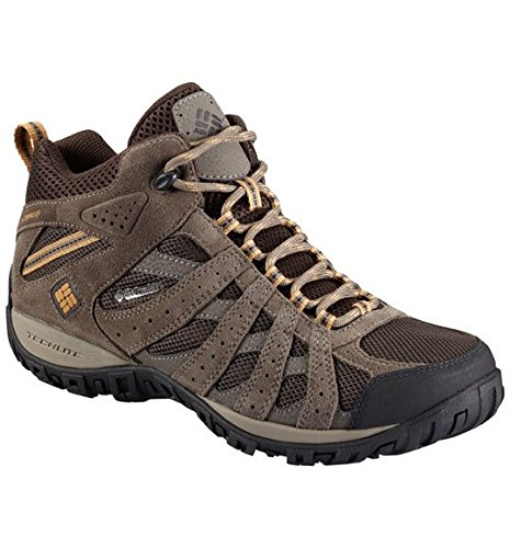 Columbia Men's Redmond Mid Waterproof Hiking Boot, Cordovan, Dark Banana, 8.5 D US