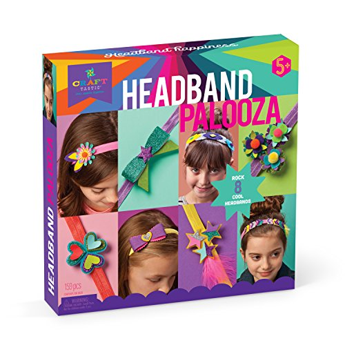 Craft-tastic - Headband Palooza Kit - Craft Kit Includes 8 Headbands and Materials to Customize and Make Them