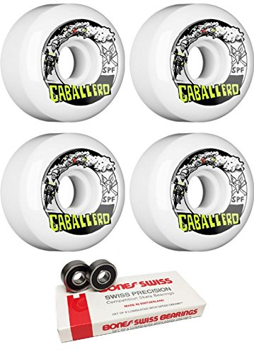妖精学校教育終わりBones Wheels 60 mm x Blender Moto SPFスケートボードWheels with Bones Bearings – 8 mm Bones Swiss Skateboard Bearings – 2アイテムのバンドル