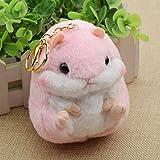 british airways keychain - Hamster Mini Key Chain Bag Backpack Plush Soft Doll Animal Stuffed Toy Girl Kids pink
