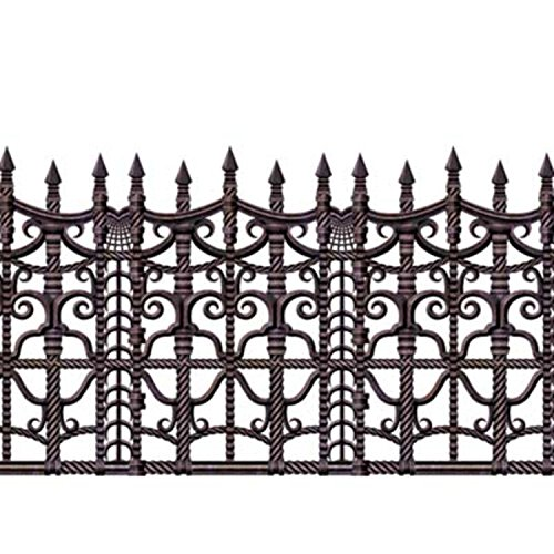 Party Central Pack of 6 Insta-Theme Creepy Fence Halloween Border Decorations -