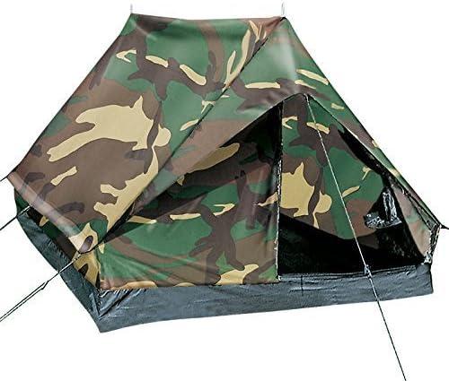 woodtarn oder Oliv Festival g8ds Leichtgewichtiges widerstandsf/ähiges 2-Mann-Zelt mit hoher Wassers/äule /′Mini Pack Super/′ Flecktarn Camping Survival