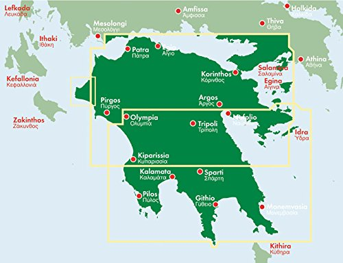 Peloponnese Road and Leisure Time Map FreytagBerndt und Artaria