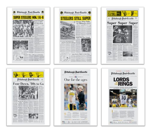 Pittsburgh Post Gazette Super Bowl Posters Set Of 6