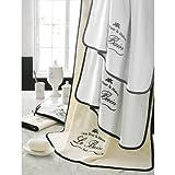 Parador Le Bain Collection Towels, 12 Piece Set - White/Black