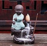 Startdy Zen Buddhist incense burner Ceramic Glaze Cone Sticks Burner Small Decorated Buddha Monk Backflow Censer Church Yoga accessories GFG