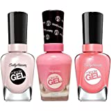 Sally-Hansen Miracle Gel Nail Color, Creme de La Creme, Pink-terest and Rosey Riviter with Dimple Bracelet