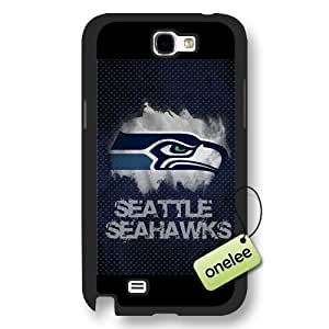 Personalize NFL Seattle Seahawks Team Logo Frosted Black Samsung Galaxy Note 2 Case Cover - Black Kimberly Kurzendoerfer