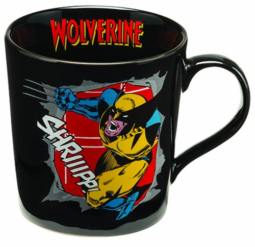 Vandor 26166 Marvel Wolverine 12 oz Ceramic Mug, Multicolor