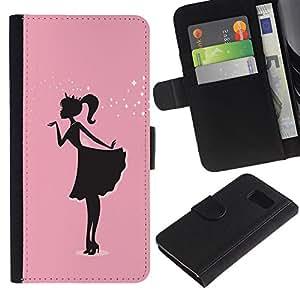 Buen accesorio de teléfono//Funda de piel tipo cartera Carcasa protectora tarjeta dinero soporte Carcasa para Sony Xperia Z3Compact//Rosa Vestido Negro minimalista Sparkle