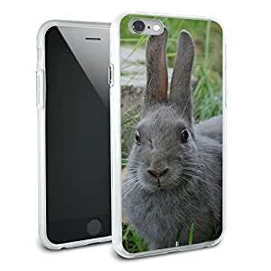 Bunny Rabbit Gray - Easter Protective Slim Hybrid Rubber Bumper Case for Apple iPhone 6 6s