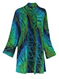 Fashion Fulfillment Long Sleeve Cardigan | Oversized Cardigan Kimono for Women, One Plus Size 1x-3x (One Size Plus, Blue-Green-raw Sienna-Splash of Aqua)