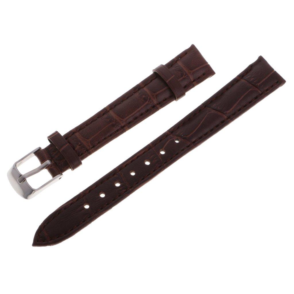 homylクイックリリースPUレザーストラップブレスレット腕時計バンド交換ウォッチ14 mm / 16 mm / 18 mm / 20 mm / 22 mm 16mm ブラウン ブラウン 16mm B079P9NBMG