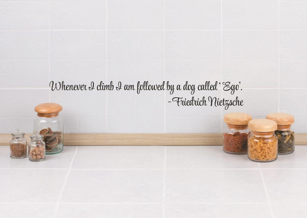 5 x 22 Design with Vinyl RAD 145 2 Whenever I Climb I Am Followed by A Dog Called Ego Friendrich Nietzsche Quote Decor Wall Decal Sticker Black