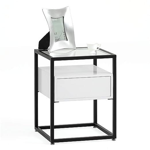Home-table Mesita de Oro, Cajones de diseño Cuadrado Mesita de ...