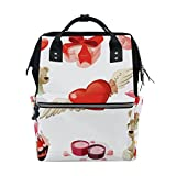 Backpack School Bag Wedding Heart Bear Rose Canvas Travel Doctor Style Daypack