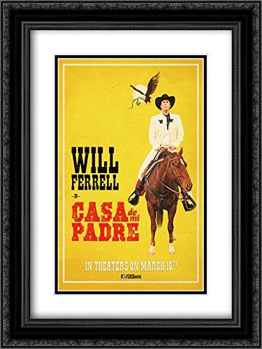 Casa de mi Padre 18x24 Double Matted Black Ornate Framed Movie Poster Art - De Mi Poster Casa Padre