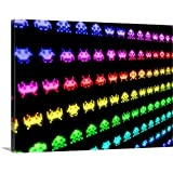"""Michael Tompsett Premium Thick-Wrap Canvas Wall Art Print entitled Space Invaders 24""""x18"""""""