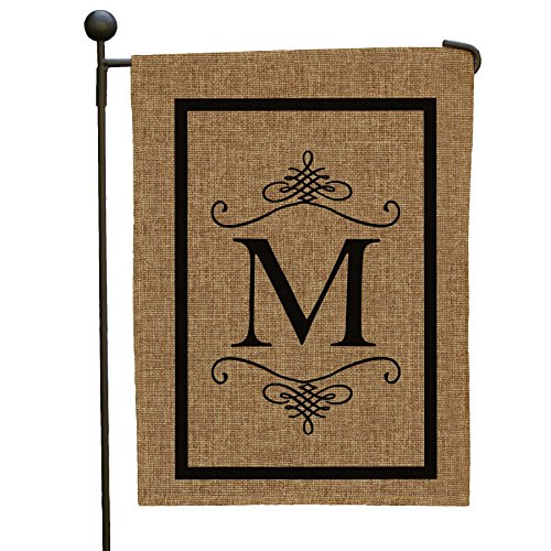 double-sided-burlap-garden-flag-black-initial-m-monogram-12-1-2-w-x-18-h-all-weather