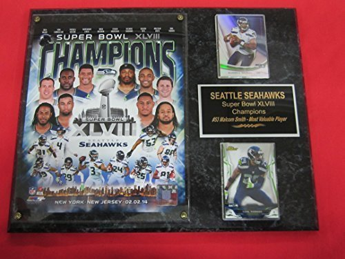 Seattle Seahawks Super Bowl XLVIII Champions 2 Card Collector Plaque #1 LIVE IN STOCK!