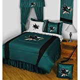 NHL San Jose Sharks King Comforter Set Hockey Logo Bed