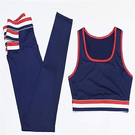 LAOBIAOZI Sport Yoga Set Women Fitness Sport Suit 2 Piezas Workout ...
