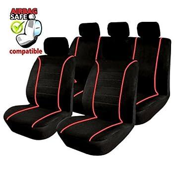 Premium Kunstleder Sitzbezüge Sitzbezug Schonbezüge für Volvo S60 Grau Set