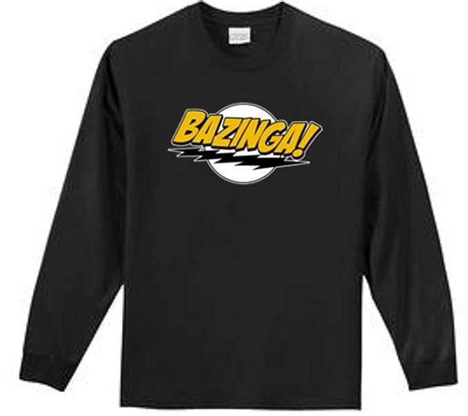 Amazon.com  Shirt Patron Bazinga Big Bang Theory Men s Long Sleeve T ... 3ee7f1bf9ac