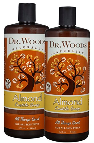 Almond Bronners - Dr. Woods Pure Almond Liquid Castile Soap, 32 Ounce (Pack of 2)