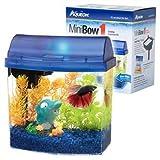Aqueon Aqueon 01204 1-Gallon Mini Bow Aquarium Kit, Blue