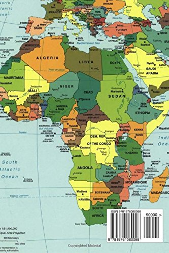 Modern Map Of Africa Modern Map of the Countries in Africa Journal: Take Notes, Write