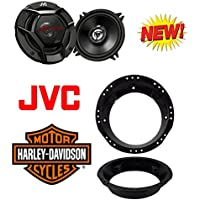 Metra 82-9601 Pair 5 1/4 Speaker Adapter for 98-13 Harley Davidson Touring with JVC CS-DR620 6-1/2 2-way car speakers (1Pair)
