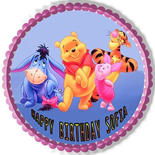Amazoncom Winnie Pooh Nr2 Edible Cake Topper 75 Round