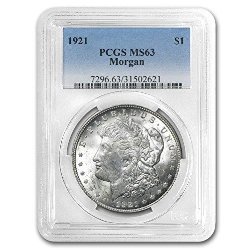 1921 Morgan Dollar MS-63 PCGS $1 MS-63 PCGS