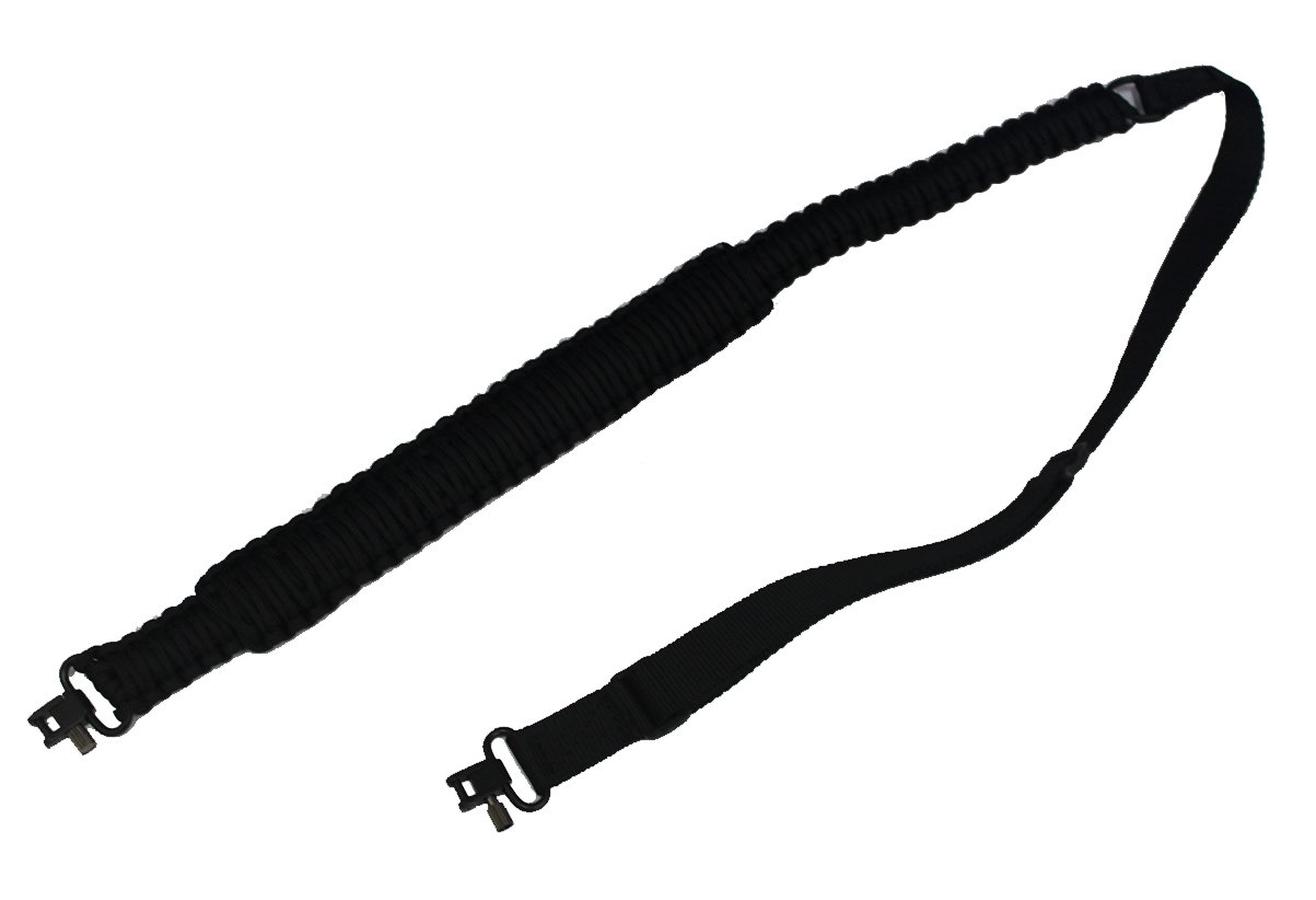 Ultimate Arms Gear 550 lb Paracord Survial Shoulder Harness Strap Sling, Black Over 56' ft Parachute Cord with Swivels for Ruger 1022 10/22 10-22 Mini-14 SR-556 SR-22 Rifle by Ultimate Arms Gear (Image #2)