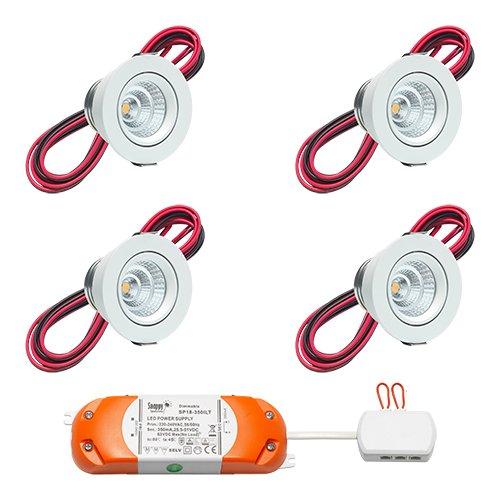 Foco LED empotrable Lugo | lámpara empotrable para Leuchten/techo foco/focos empotrables/