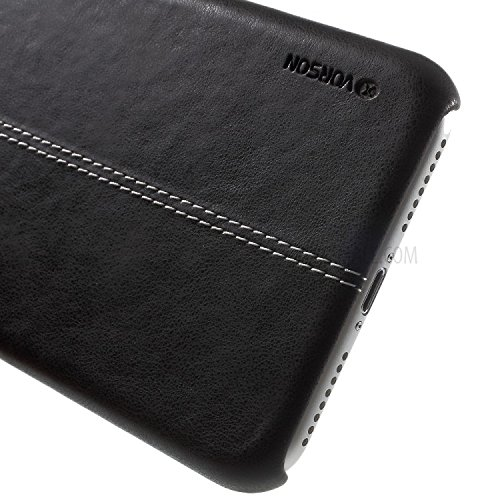 NAVIZONE Vorson Leather Back Cover for Apple iPhone 7  Black
