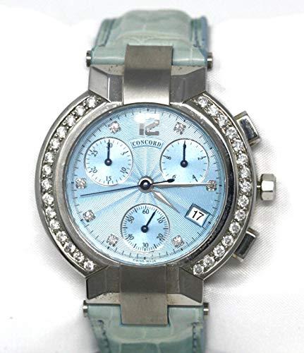 Concord La Scala Chronograph with Diamond Markers and Diamond Bezel Women's Watch (Chronograph Scala La Concord)