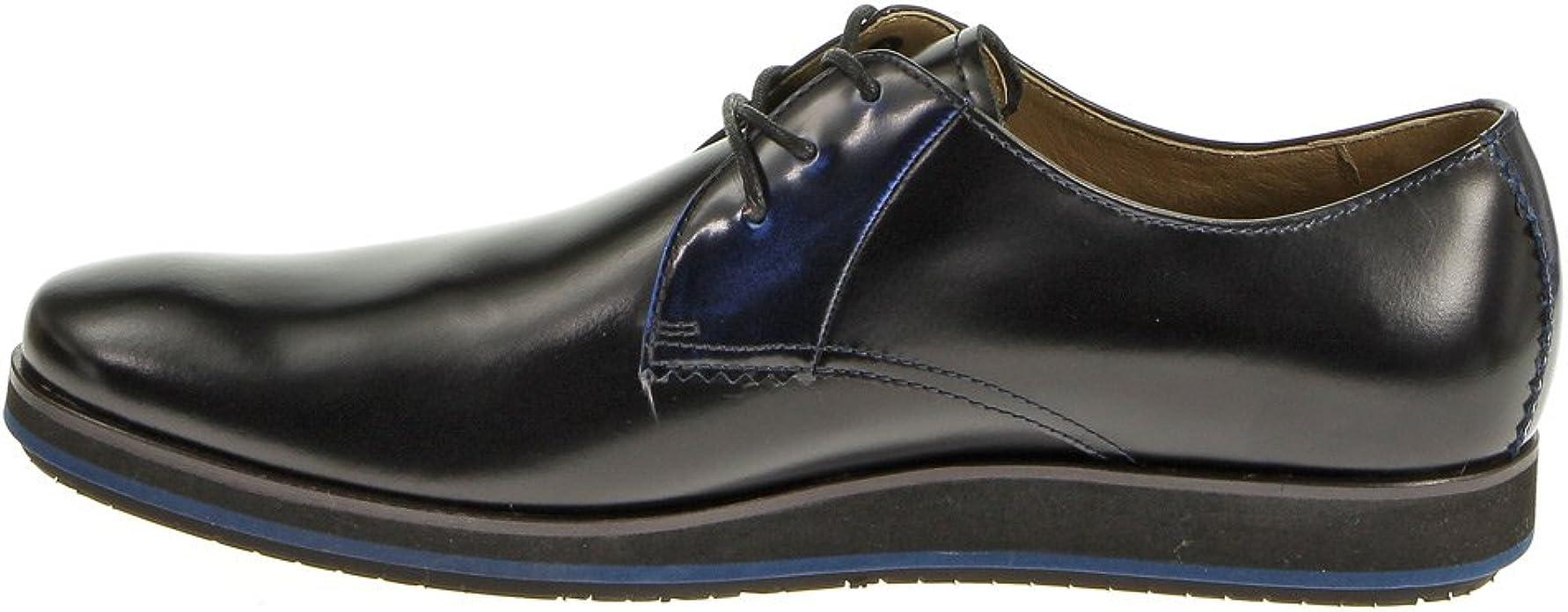 Hush Puppies Men/'s Halo Oxford Plain Toe Black Leather Oxford