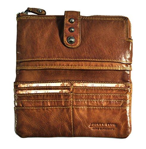 Jockey Club Portamonete, cognac (marrone) - 8872-20-25