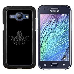 LECELL--Funda protectora / Cubierta / Piel For Samsung Galaxy J1 J100 -- Kraken pulpo ilustración detallada --