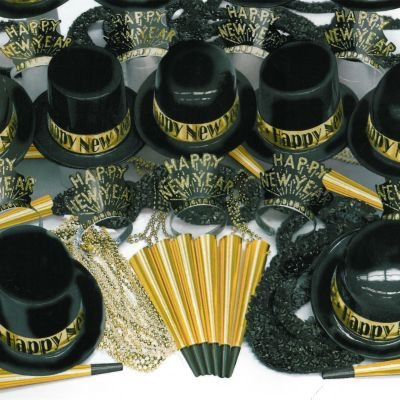 Gold Showboat New Year Kit for 100 by Amscan