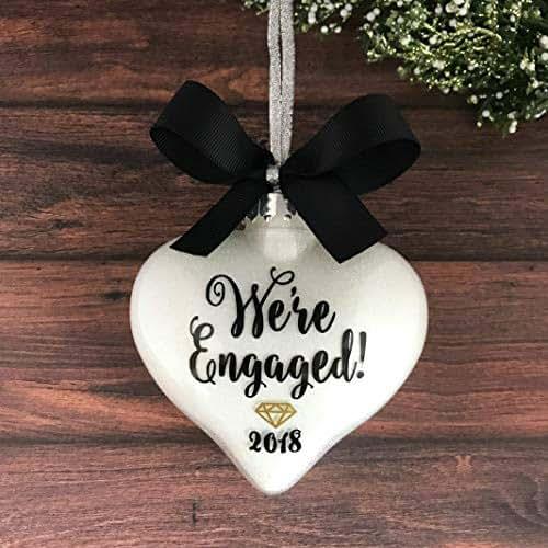Amazon.com: Personalized Engagement Ornaments, Engagement ...