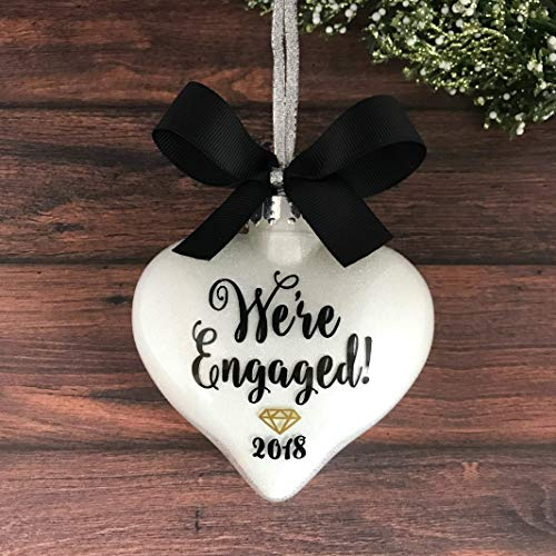 Personalized Engagement Ornaments, Engagement Christmas Ornament, Engaged Ornament, Engagement Gifts ()