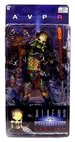 Price comparison product image Alien VS. Predator: Requiem NECA Action Figure Series 4 Battle Damaged Unmasked Predator