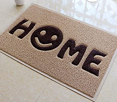 Fasmov Home Smile Doormat Entrance Rug Floor Mats Shoe Scraper Doormat,23.6X35.4""