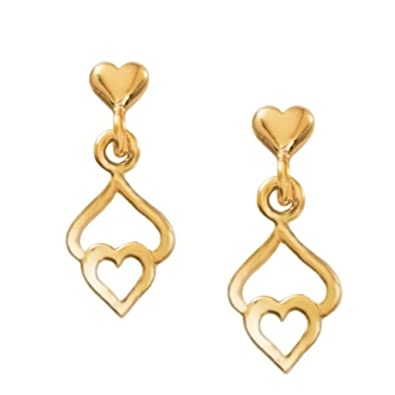 7b14835ba Image Unavailable. Image not available for. Color: Triple Heart Drop  Earrings GoldTone ...