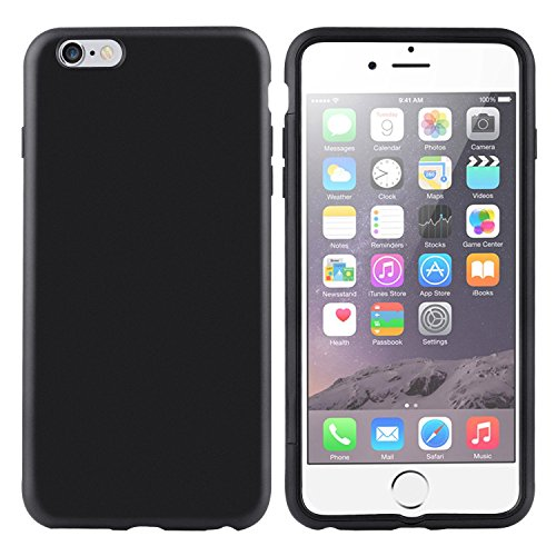ChannelExpert schwarz/klar Frost Buch PU Cover Etui Schutzhülle Tasche Handyschale Case Handytasche Handyhülle für Apple iPhone 6 Plus