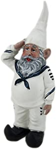 Sailor Gnome in White Uniform Navy Accents