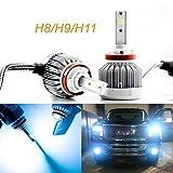 h11 blue headlight bulbs - 2pcs H8 H9 H11 Ice Blue 8000K COB LED Headlight Bulbs Conversion Kit For High/Low Beam Daytime Running Lights